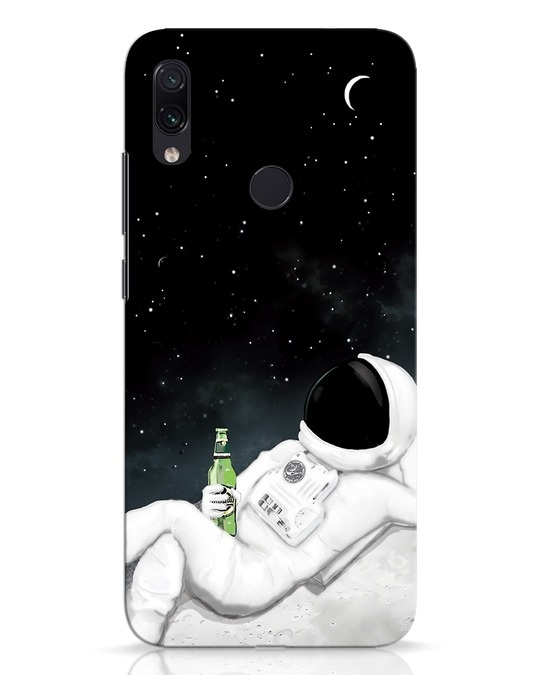 Shop Drinking Astronaut Xiaomi Redmi Note 7 Mobile Cover-Front