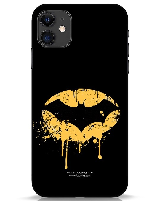 Shop Dripping Batman iPhone 11 Mobile Cover (BML)-Front
