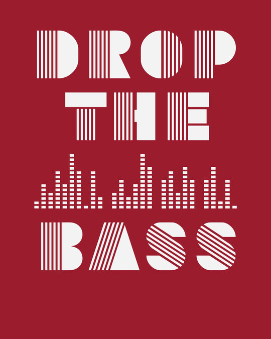 Shop Drop The Bass Boyfriend T-Shirt