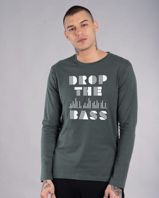 Shop Drop The Bass Full Sleeve T-Shirt-Front