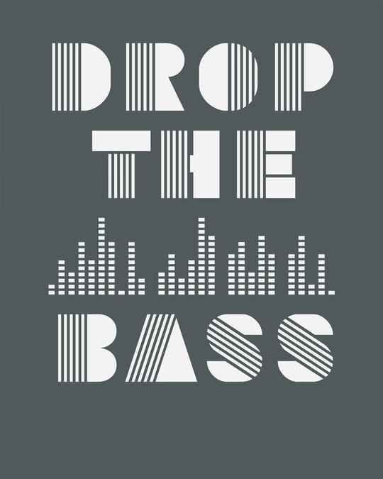 Shop Drop The Bass Half Sleeve T-Shirt-Full