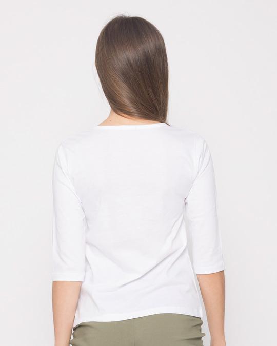 Shop Drunk Naaaah Round Neck 3/4th Sleeve T-Shirt-Back