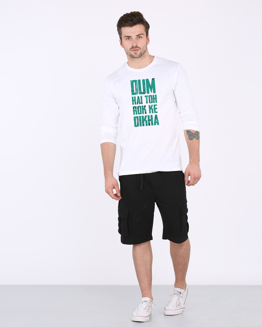 Shop Dum Hai Toh Full Sleeve T-Shirt