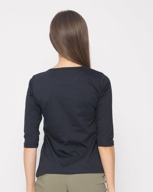 Shop Dumass Round Neck 3/4th Sleeve T-Shirt-Full