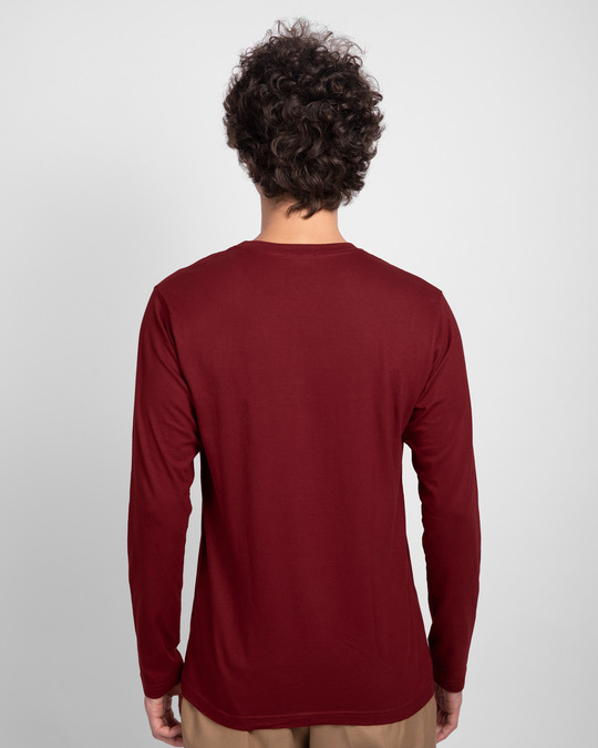 Shop Durotto Full Sleeve T-Shirt Scarlet Red-Back
