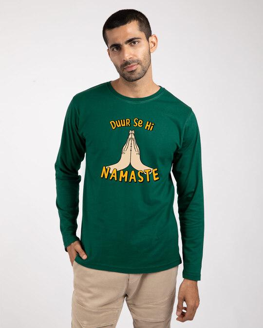 Shop Durr Se Namaste Full Sleeve T-Shirt-Front