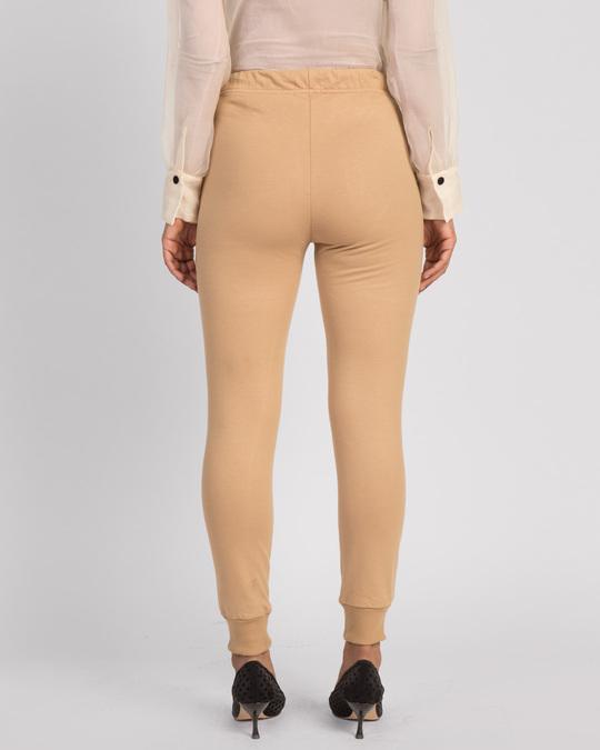 Shop Pastel Beige Casual Jogger Pants-Design