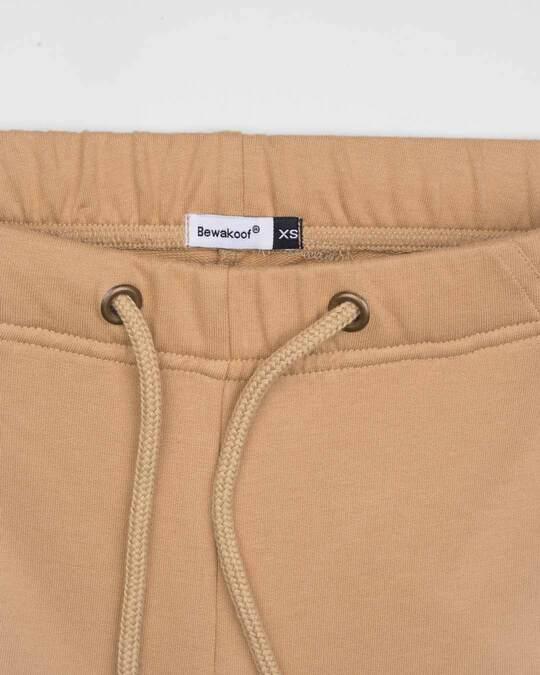 Shop Pastel Beige Casual Jogger Pants