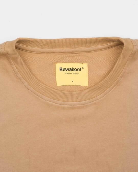 Shop Pastel Beige Fleece Light Sweatshirt