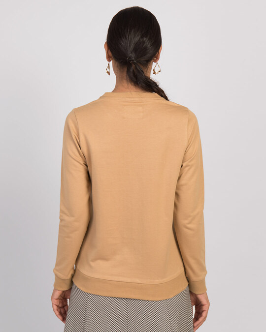 Shop Pastel Beige Fleece Light Sweatshirt-Design