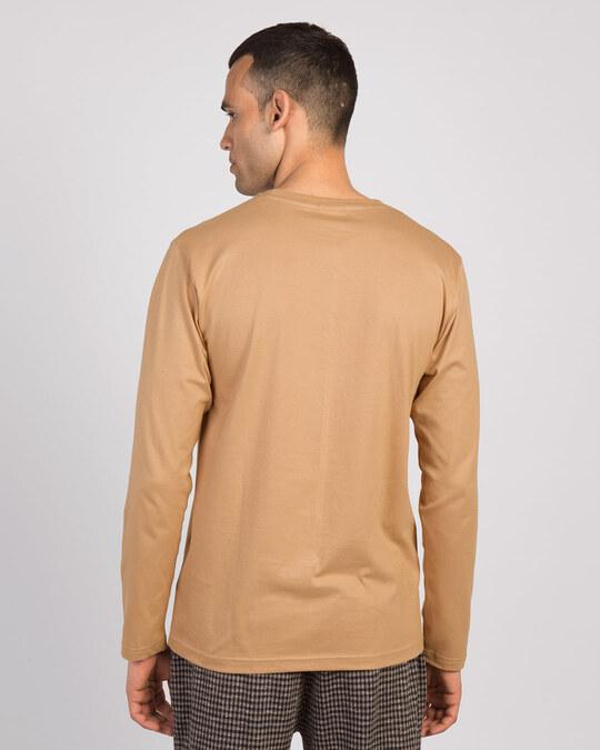 Shop Pastel Beige Full Sleeve T-Shirt-Full