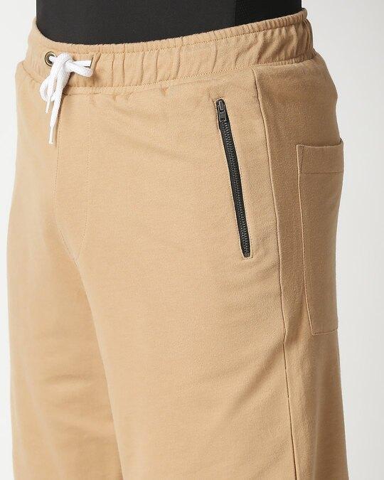 Shop Dusty Beige Men's Varsity Shorts