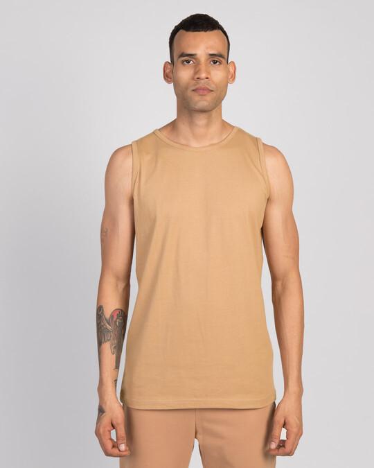Shop Dusty Beige Vest-Front