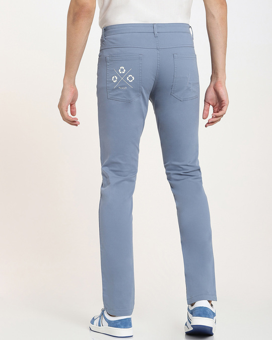 Shop Dusty Blue Men's Twill Chino-Design