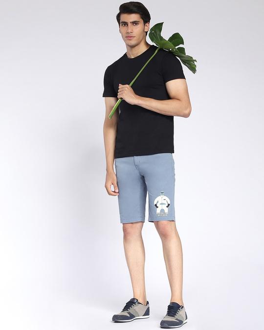 Shop Dusty Blue Men's Twill Short-Front