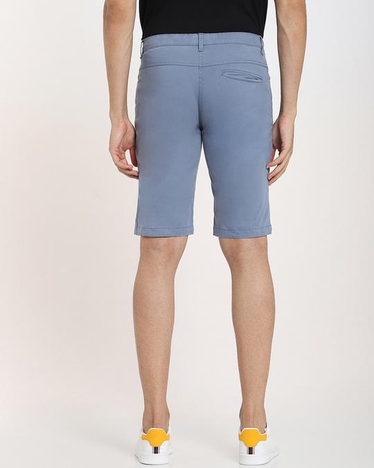 Shop Dusty Blue Men's Twill Short-Full