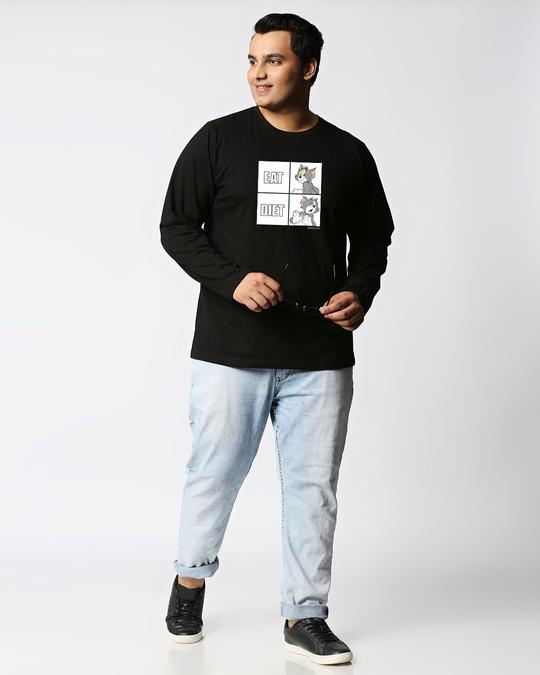 Shop Eat Diet (TJL) Full Sleeves Plus Size T-Shirt-Full