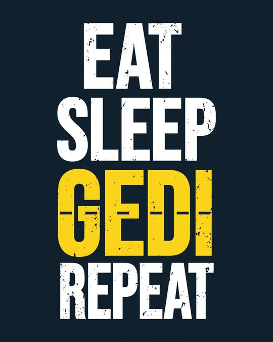 Shop Eat Sleep Gedi Repeat Boyfriend T-Shirt