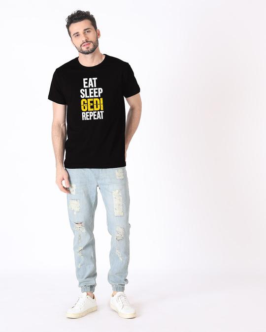 Shop Eat Sleep Gedi Repeat Half Sleeve T-Shirt