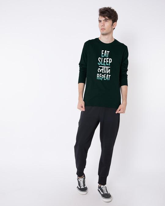 Shop Eat Sleep Lyadh Repeat Full Sleeve T-Shirt