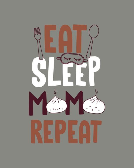 Shop Eat Sleep Momo Repeat Boyfriend T-Shirt