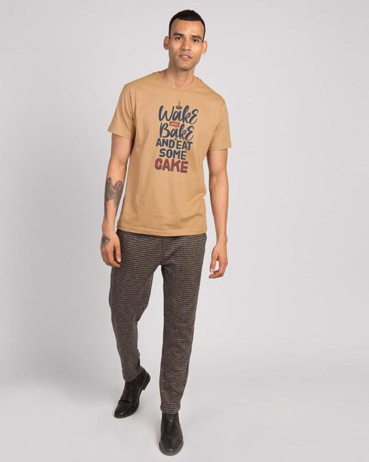 Shop Eat Some Cake Half Sleeve T-Shirt-Design