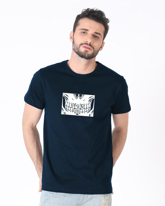 Shop Eff You Skull Half Sleeve T-Shirt-Back