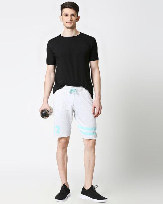 Shop Egret melange Men Shorts-Full