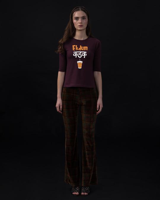 Shop Ekdum Kadak Round Neck 3/4th Sleeve T-Shirt-Full