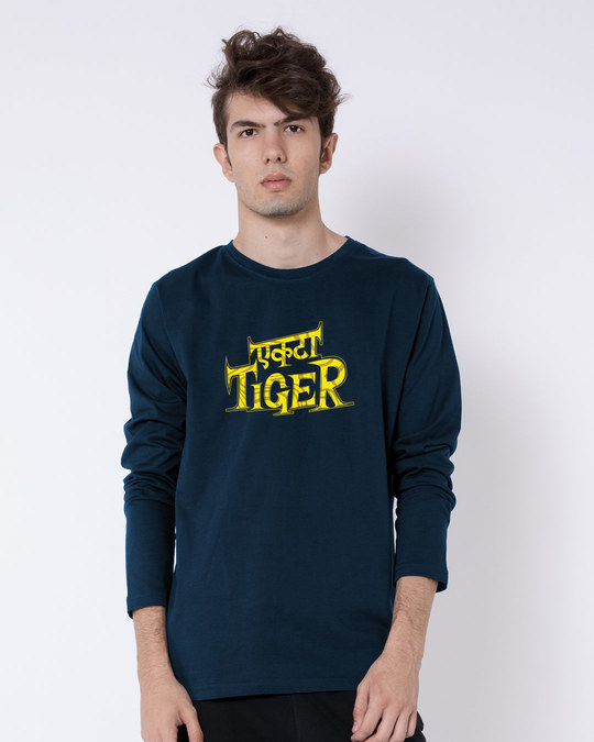 Shop Ekta Tiger Full Sleeve T-Shirt-Front