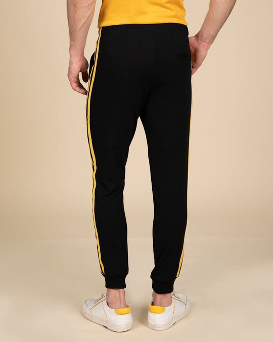 Shop Electric Banana Fleece Sports Trim Joggers-Design