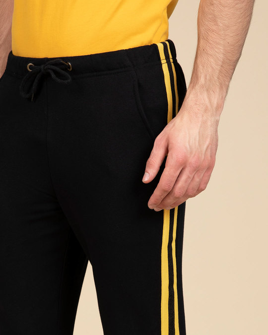 Shop Electric Banana Fleece Sports Trim Joggers