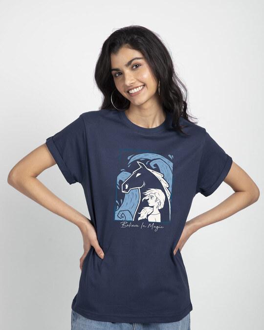 Shop Elsa Believe Boyfriend T-Shirt (DL)-Front