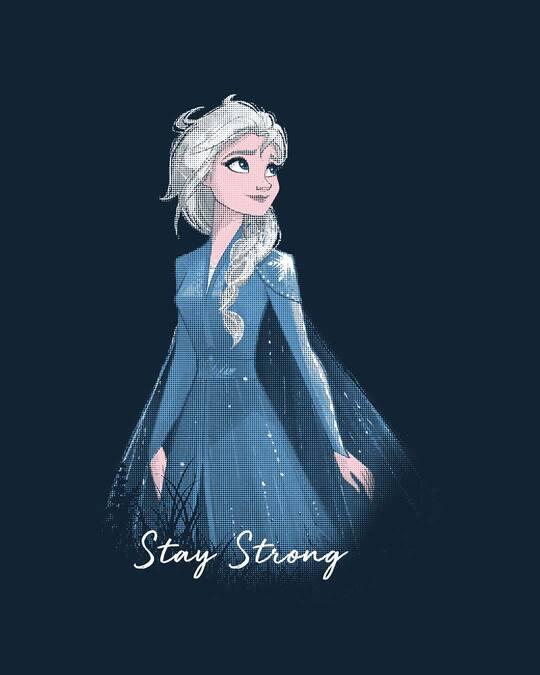 Shop Elsa Stay Strong Scoop Neck Full Sleeve T-Shirt (DL)-Full
