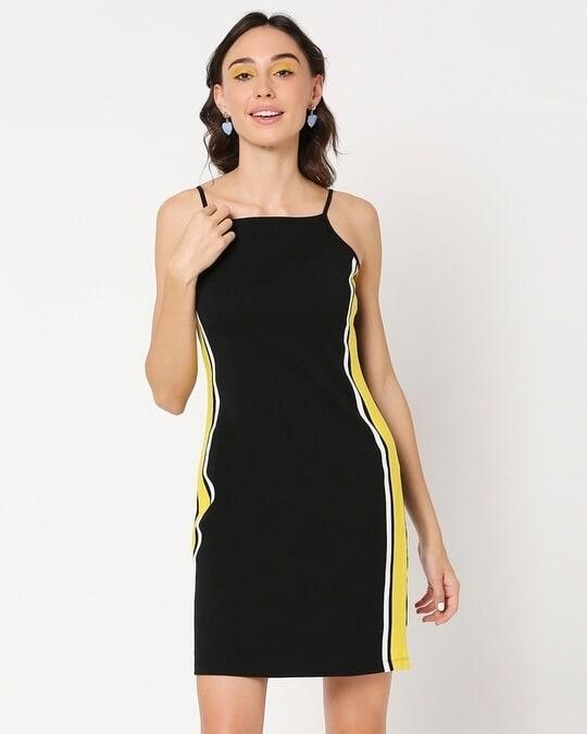 Shop Yolo Yellow Alter Neck Dress-Design