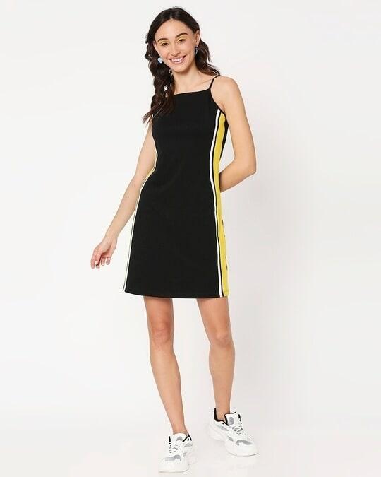 Shop Yolo Yellow Alter Neck Dress