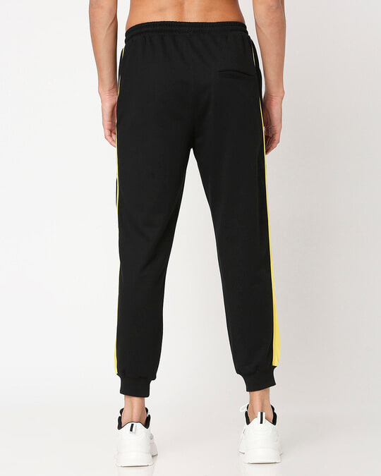 Shop Yolo Yellow Color Block Joggers-Design