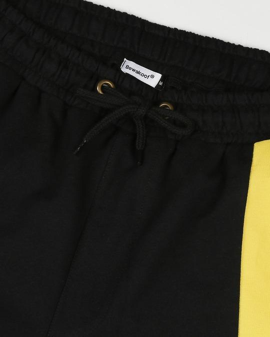 Shop Yolo Yellow Panel Shorts