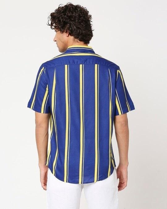 Shop Yolo Yellow Stripe Shirt-Full