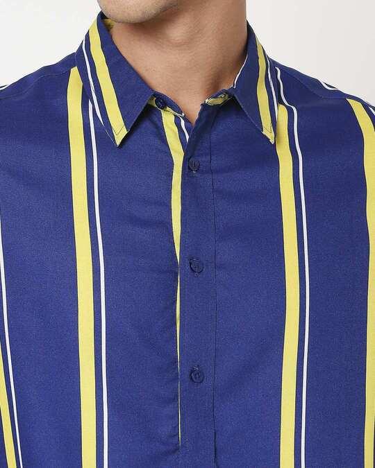 Shop Yolo Yellow Stripe Shirt