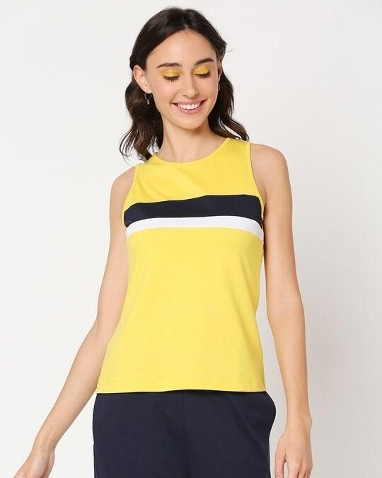 Shop Yolo Yellow Tank Top-Back