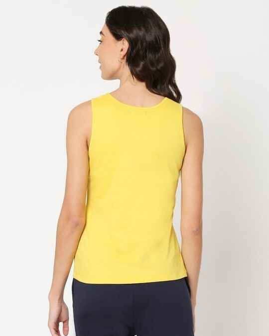 Shop Yolo Yellow Tank Top-Full