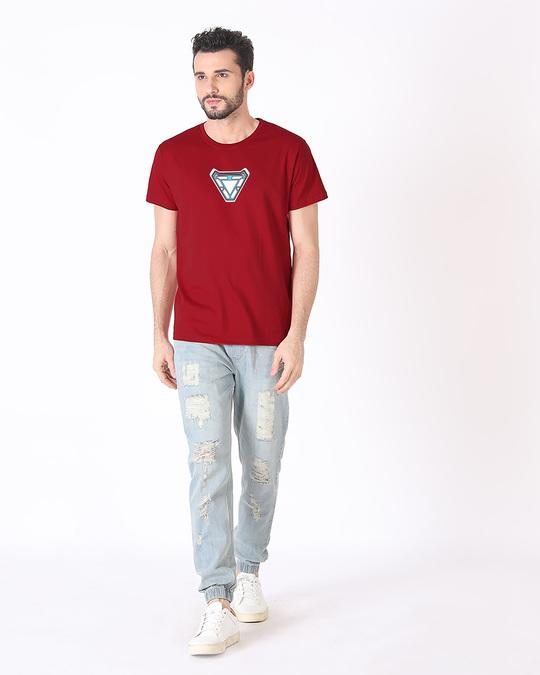 Shop Endgame Iron Man Half Sleeve T-Shirt (AVEGL) (GID)