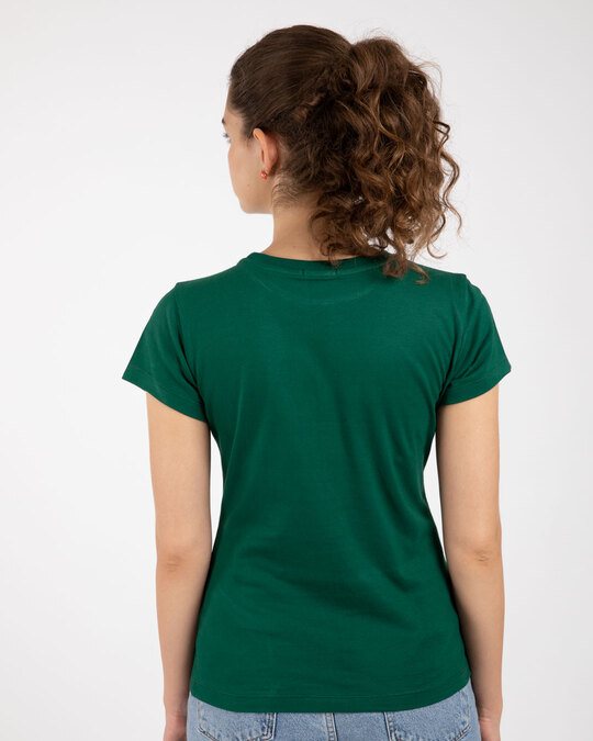 Shop Energy= Milk X Coffee Half Sleeve Printed T-Shirt Dark Forest Green-Design