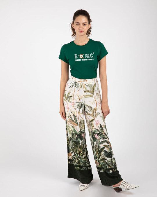 Shop Energy= Milk X Coffee Half Sleeve Printed T-Shirt Dark Forest Green-Full