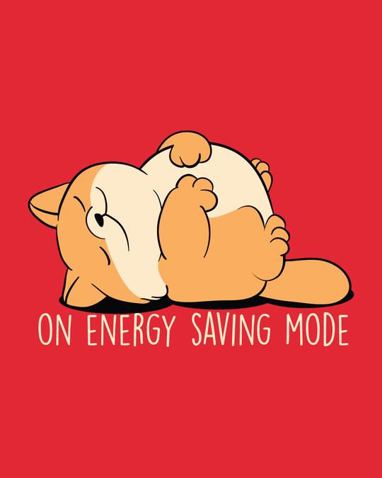Shop Energy Saving Mode On Full Sleeve Plus Size T-Shirt