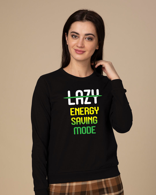 Shop Energy Saving Mode Sweatshirt-Front