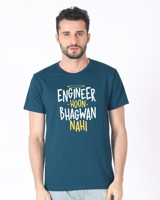Shop Engineer Bhagwan Half Sleeve T-Shirt-Back