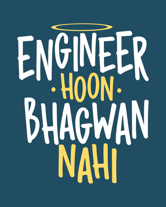 Shop Engineer Bhagwan Round Neck 3/4th Sleeve T-Shirt