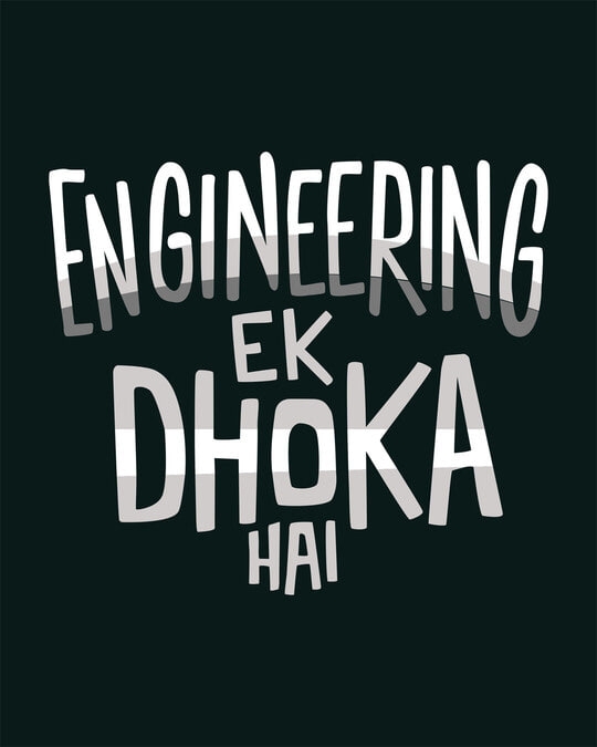 Shop Engineering Ek Dhoka Boyfriend T-Shirt